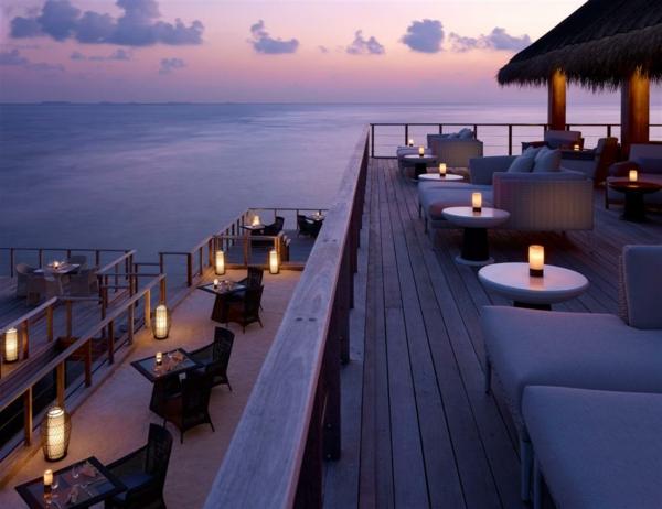 Romantische Atmosphäre für ein Restaurant am Insel