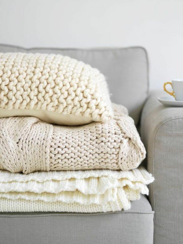 Wolle Decke im energiesparender Wohnung
