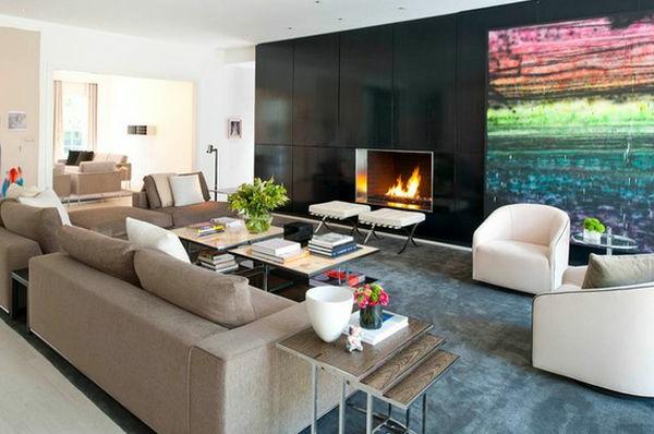 Beispiele Für Wohnraumgestaltung Designer Wohnzimmer Mit Nest Tischen ...