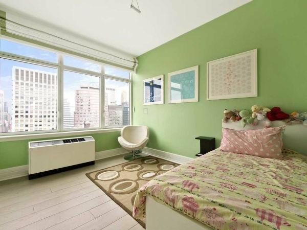 Frische und farbenfreudige Innenarchitektur im Kinderzimmer