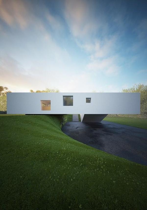 Schöne Umgebung und elegante Form für ein elegantes Haus