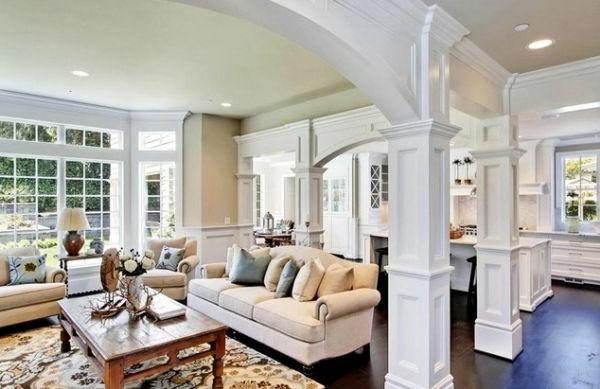 Haus bauen auffallende ideen f r au en und for Eingerichtete wohnzimmer modern