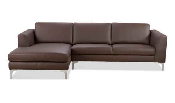 Braune Sofa aus Leder- schöne Form