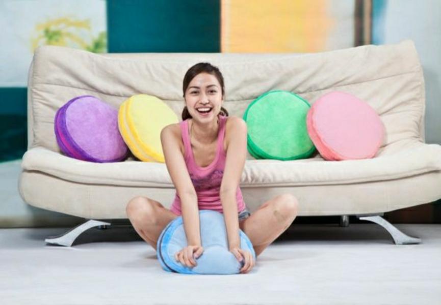 Rundes Dekokissen Modell in verschiedenen Farben
