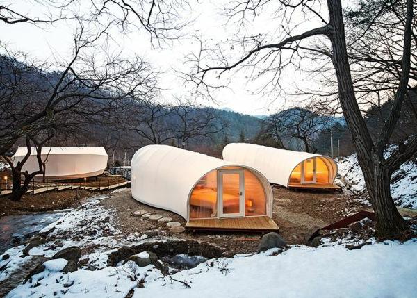 Mode beim Zelt Camping