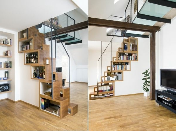 Moderne Treppen Ideen : Moderne Treppen Ideen verschiedene Modelle und Farben  Archzinenet
