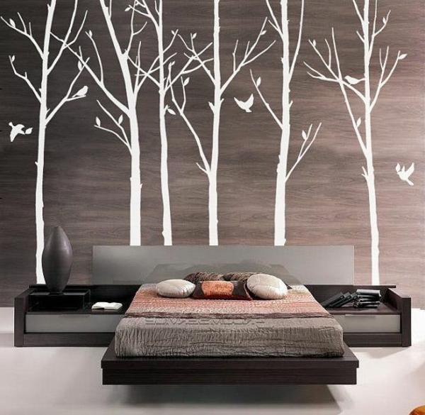 Schlafzimmer Ideen Wandgestaltung Stein With Tapeten Fur, Wohnzimmer Design