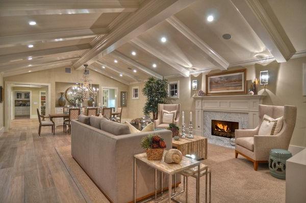 beispiele f r wohnraumgestaltung designer wohnzimmer mit nest tischen. Black Bedroom Furniture Sets. Home Design Ideas