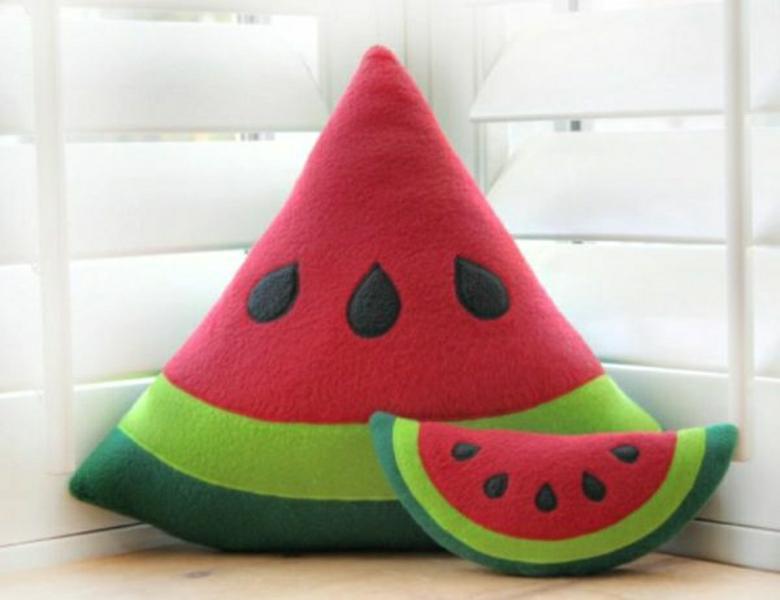 Wassermelone Dekokissen aus gutem Material gefertigt