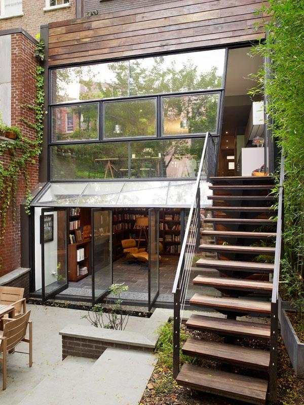 Innovation der gläsernen Drehtüren beim Haus Design