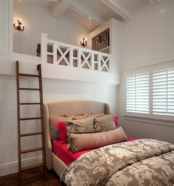 Treppe aus Holz für ein auffälliges Hochbett Design im Kinderzimmer