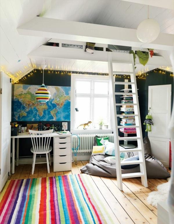 Kinderzimmer mit hochbett  Bett Design- 24 Super Ideen für Kinderzimmer Innenarchitektur ...