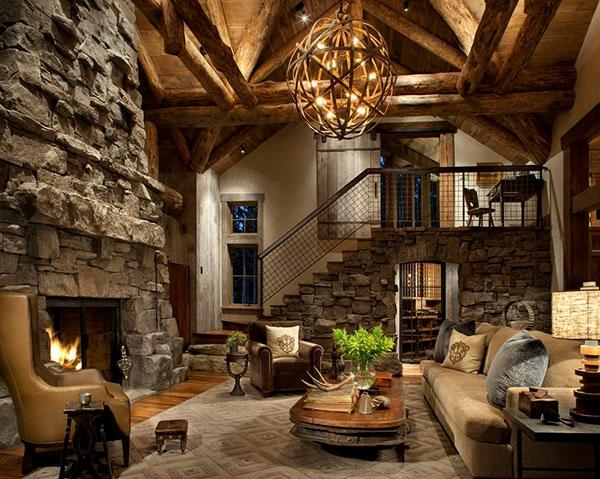 luxus wohnzimmer modern mit kamin:Wie ein modernes Wohnzimmer aussieht ...