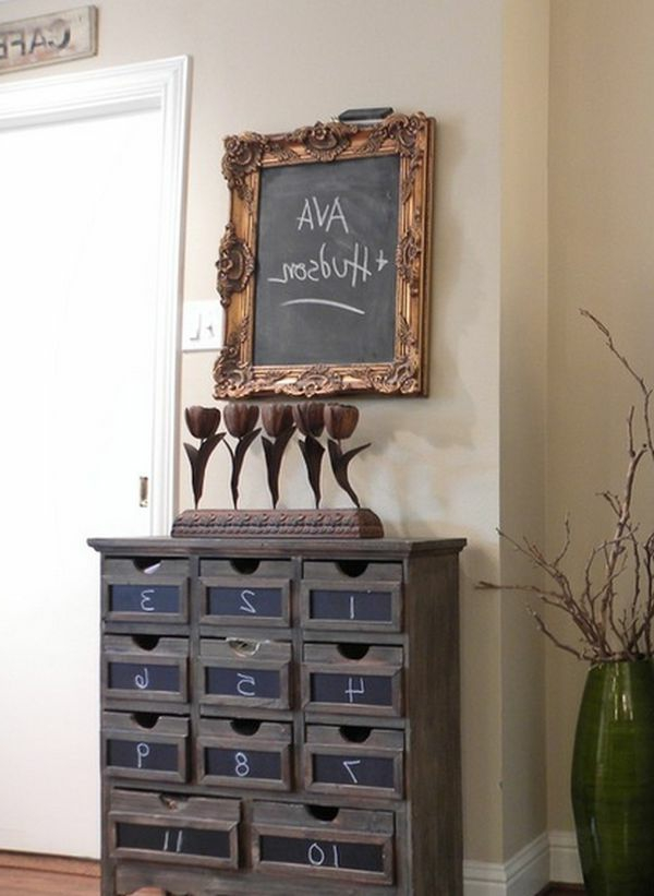 Elegante Kreidetafel Mit Luxus Rahmen