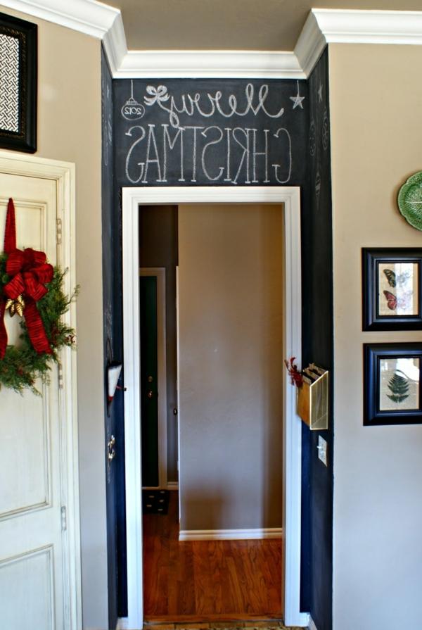 Kreidetafel über der Tür als eine interessante Idee für Zimmer Ausstattung