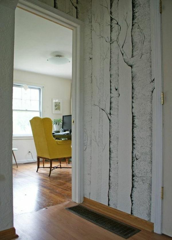 Hausflur Design mit interessanten Malerschablonen