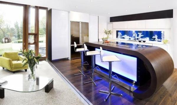 interessante küchenspiegel ideen - extravagante sküchenspiegel modell
