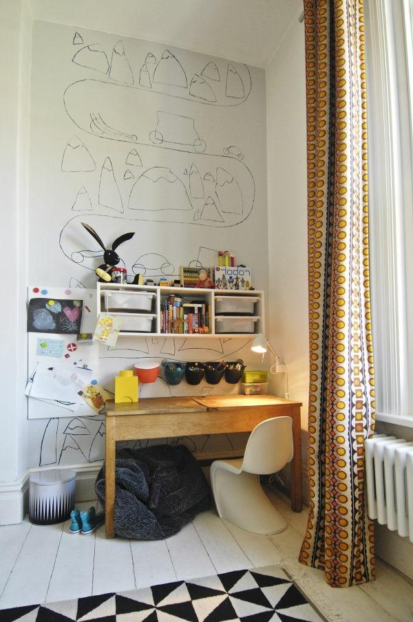 Wand Bemalungen für ein extravagantes Aussehen des Arbeitszimmer