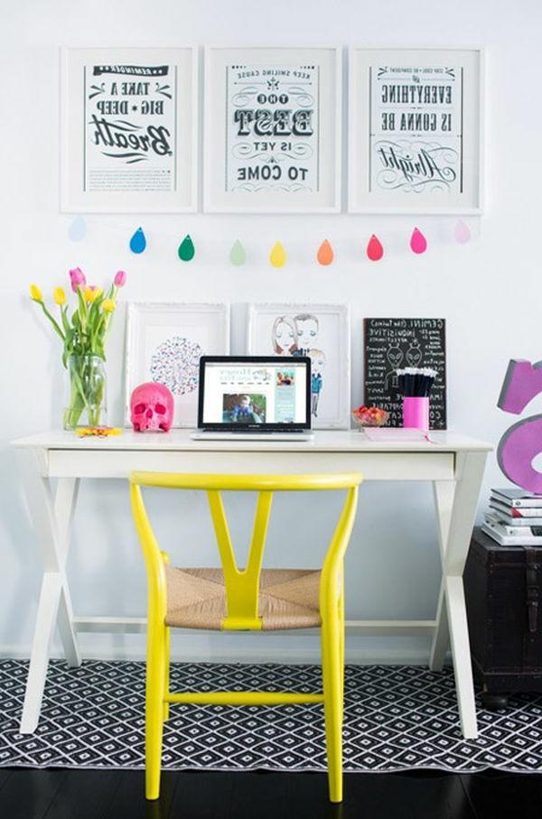 Lustiges Aussehn für ein Arbeitszimmer im skandinavischen Stil