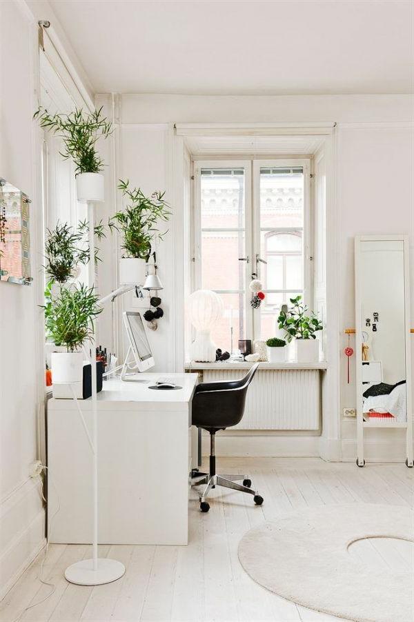 Arbeitszimmer im skandinavischen stil 29 coole ideen - Feng shui pflanzen buro ...