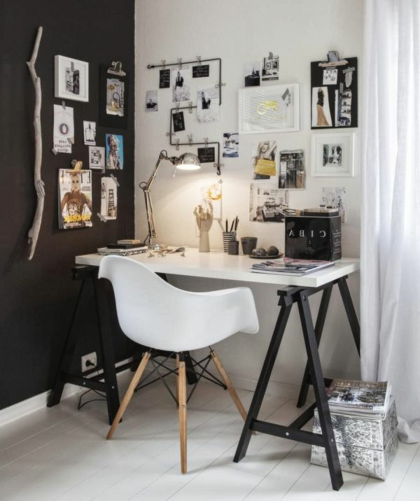 arbeitszimmer im skandinavischen stil 29 coole ideen. Black Bedroom Furniture Sets. Home Design Ideas