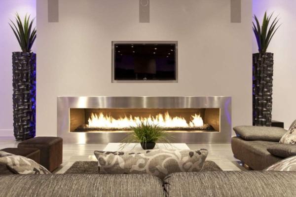 wohnzimmer kamin design:Wie ein modernes Wohnzimmer aussieht – 135 innovative Designer Ideen