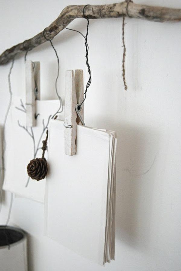 treibholz praktisch verwenden - zetteln aufhängen
