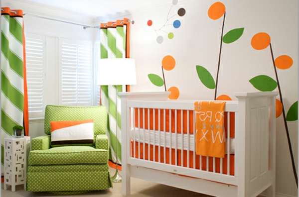 moderne dekoration dekor baum babyzimmer images. Black Bedroom Furniture Sets. Home Design Ideas