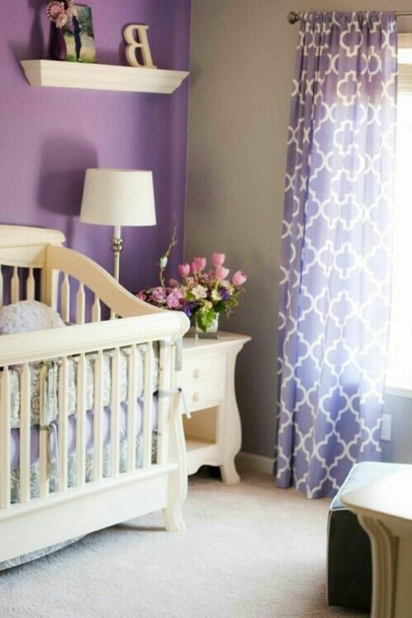 45 auffällige ideen - babyzimmer komplett gestalten - archzine.net - Kinderzimmer Deko Lila