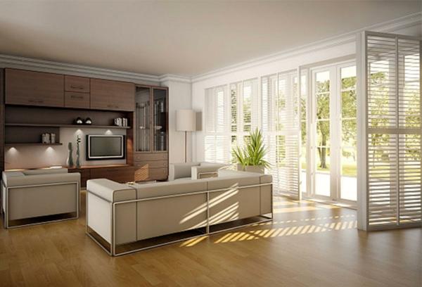 gute idee für streichen im wohnzimmer - weiße farbtönung