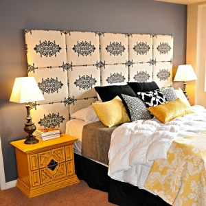 Bett Kopfteil mit originellem Design für ein extravagantes Schlafzimmer