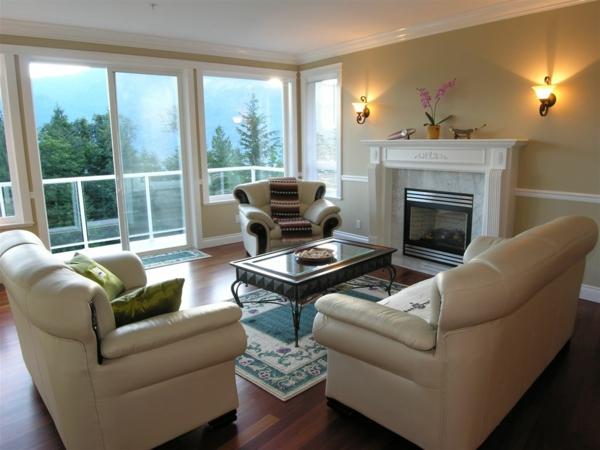 Terrasse und luxus möbelstücke für ein modernes wohnzimmer design