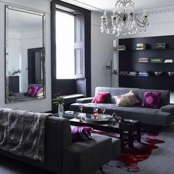 Die graue Wandfarbe im Wohnzimmer  Top Trend für 2015