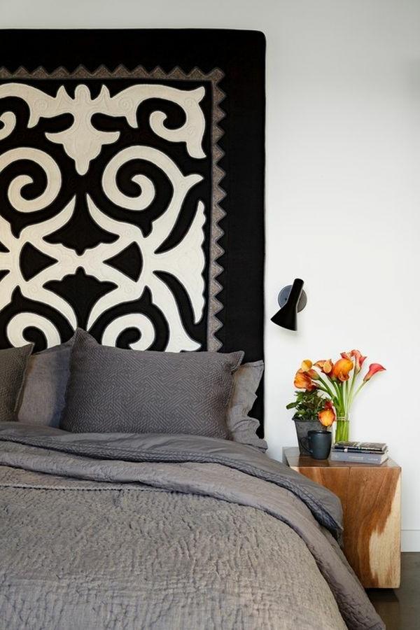 Design vom Bett Kopfteil mit interessanten Formen