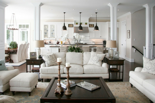 wohnzimmer modern mit weißen möbelstücken ausstatten