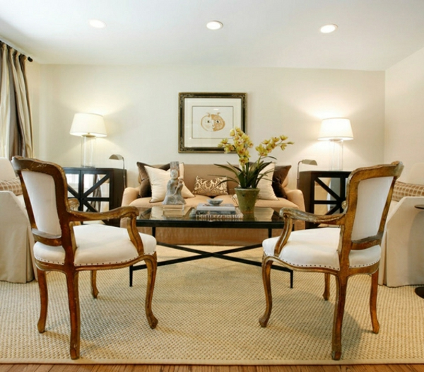formales wohnzimmer mit eleganten möbelstücken einrichten