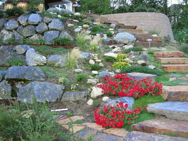 53 erstaunliche bilder von gartengestaltung mit steinen - archzine, Garten und Bauten