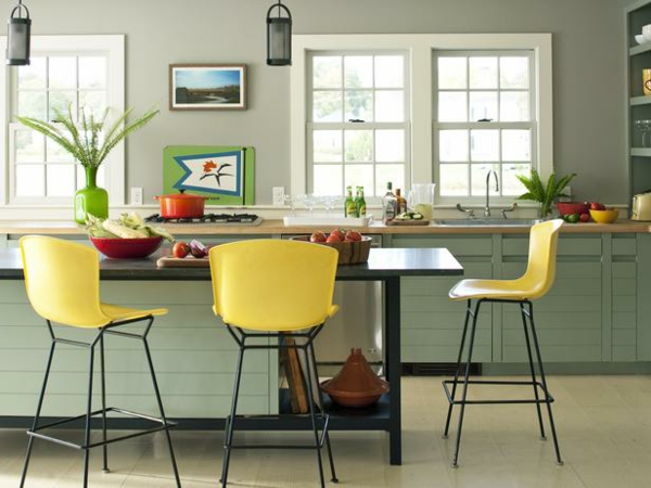 55 wundersch ne ideen f r k chen farben stil und klasse. Black Bedroom Furniture Sets. Home Design Ideas