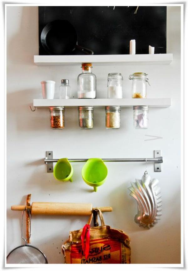 becher aus glas für gewürzaufbewahrung - magnetische oberfläche