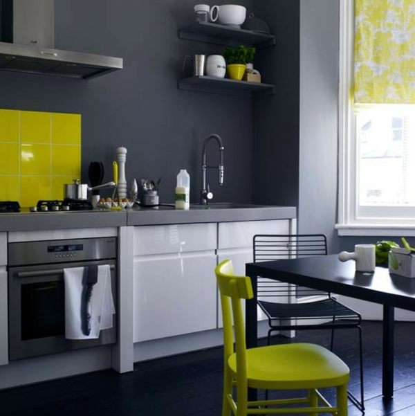 Lime Green Painted Kitchen Walls