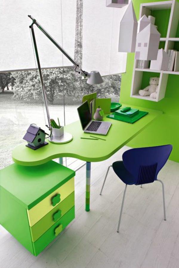 Grune Farbe Im Buro : zum Beispiel – grün Diese Farbe schafft eine lustige Atmophäre im