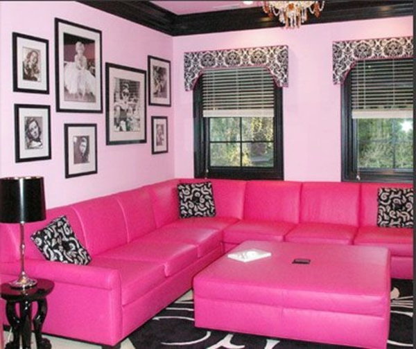 Best Wohnzimmer Deko Pink Photos - House Design Ideas
