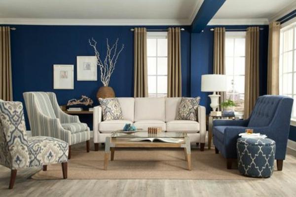 wohnzimmer ideen wandgestaltung blau. Black Bedroom Furniture Sets. Home Design Ideas