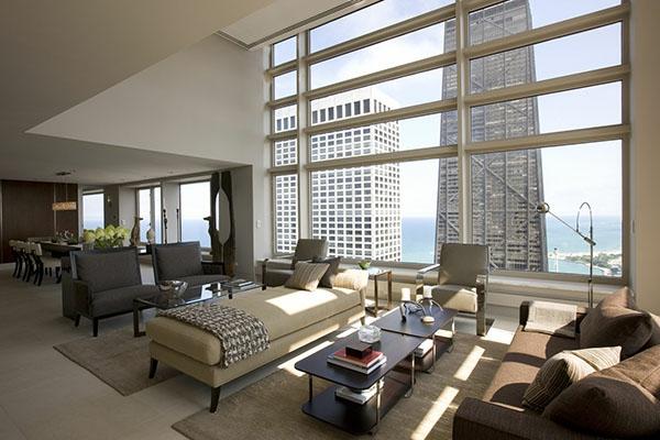 wohnzimmer modern und elegant mit originellen möbelstücken
