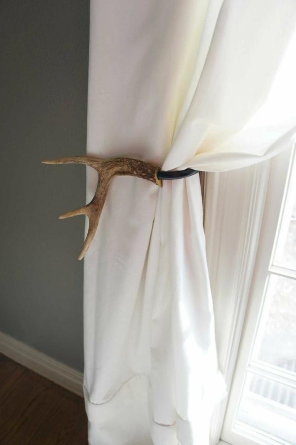 gardine wohnzimmer idee:Super Ideen für Gardinen – Deko – Element aus Holz