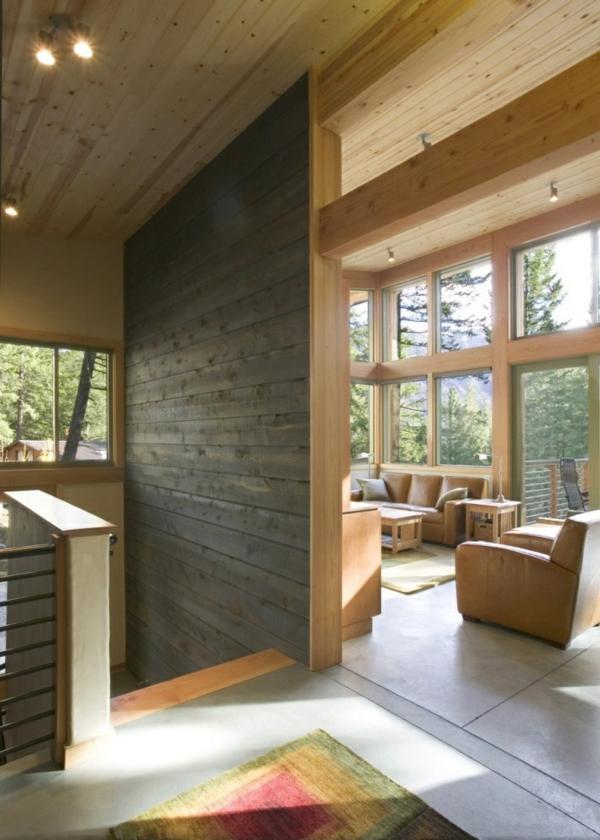 schaffen sie eine gem tliche atmosph re im zimmer holzwand ideen. Black Bedroom Furniture Sets. Home Design Ideas