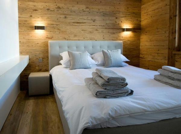 schlafzimmer holzwand – bigschool, Schlafzimmer ideen