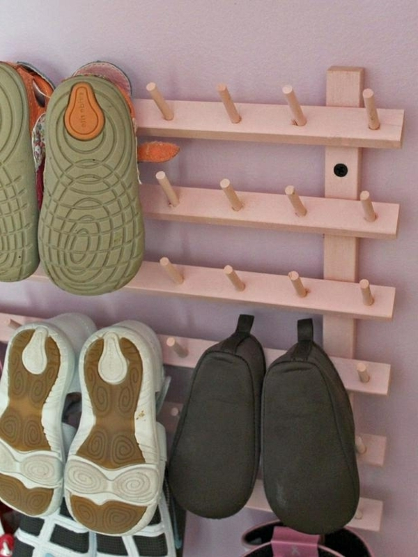 selbermachen 35 coole schuhaufbewahrung ideen. Black Bedroom Furniture Sets. Home Design Ideas