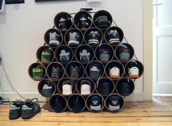 coole wohnzimmer ideen:schuhe organisieren extravagantes modell von schuhaufbewahrung einlage