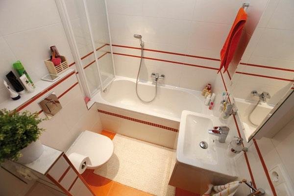 extravagante badideen - rote linien für ein schickes Aussehen